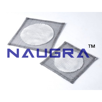 Wire mesh with Asset To a 6-inch base.