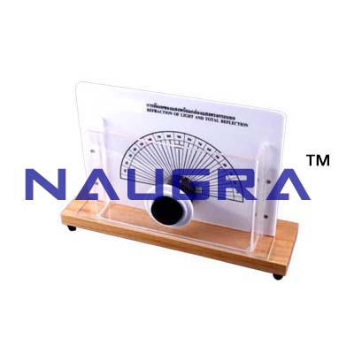 Refraction of light, light box with cylindrical